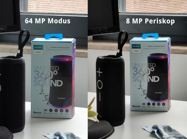 Realme X3 SuperZoom Periskop vs 64 MP Modus