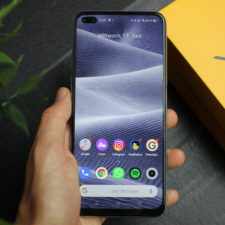 Realme X3 SuperZoom Smartphone in Hand