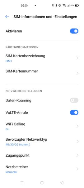 Realme X3 SuperZoom VoLTE VoWiFi