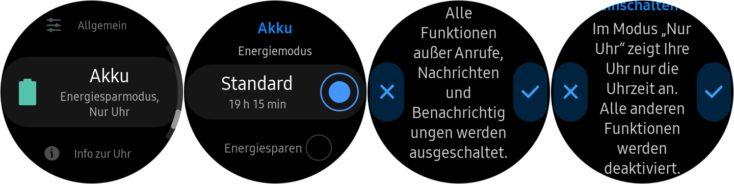 Samsung Galaxy Watch Active 2 Akku Modi