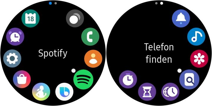 Samsung Galaxy Watch Active 2 Apps Uhr