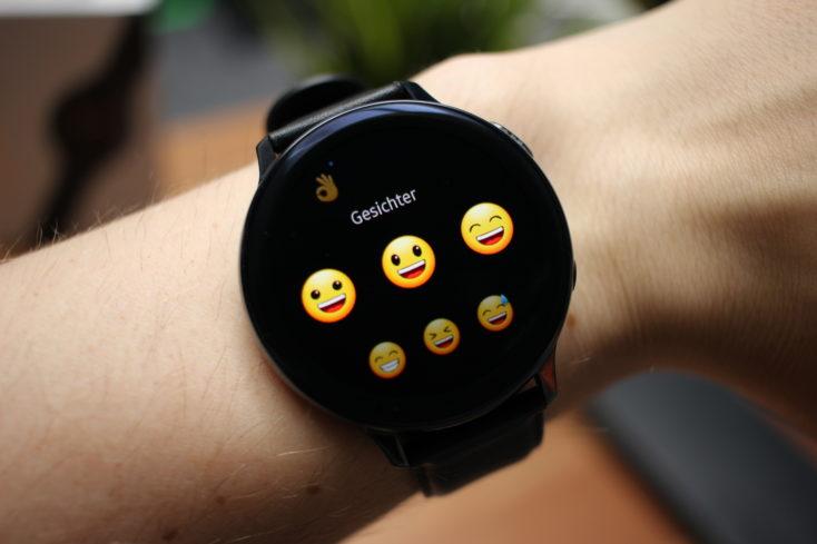 Samsung Galaxy Watch Active 2 Emoji Antwort