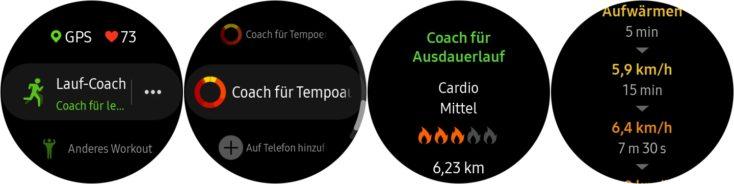 Samsung Galaxy Watch Active 2 Lauf Coach Uhr