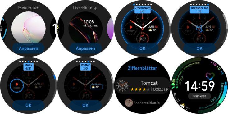 Samsung Galaxy Watch Active 2 Watchfaces Uhr