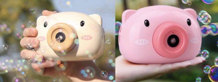 Seifenblasen Kamera braun pink