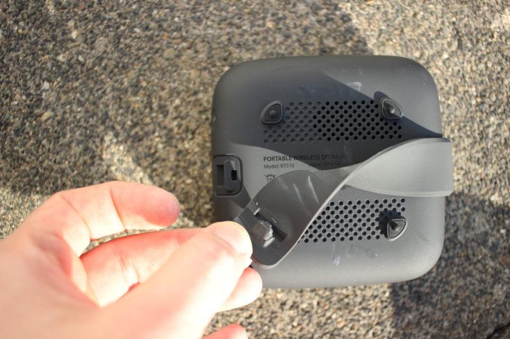 Tribit Stormbox Micro Gummilasche Rueckseite