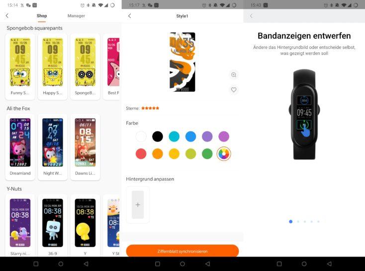 Xiaomi Mi Band 5 Watchfaces