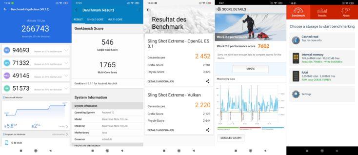 Xiaomi Mi Note 10 Lite Benchmarks