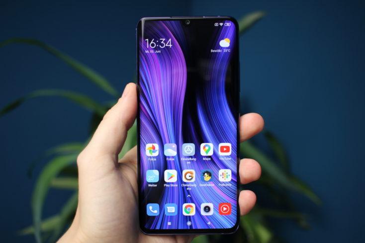 Xiaomi Mi Note 10 Lite Display ganz