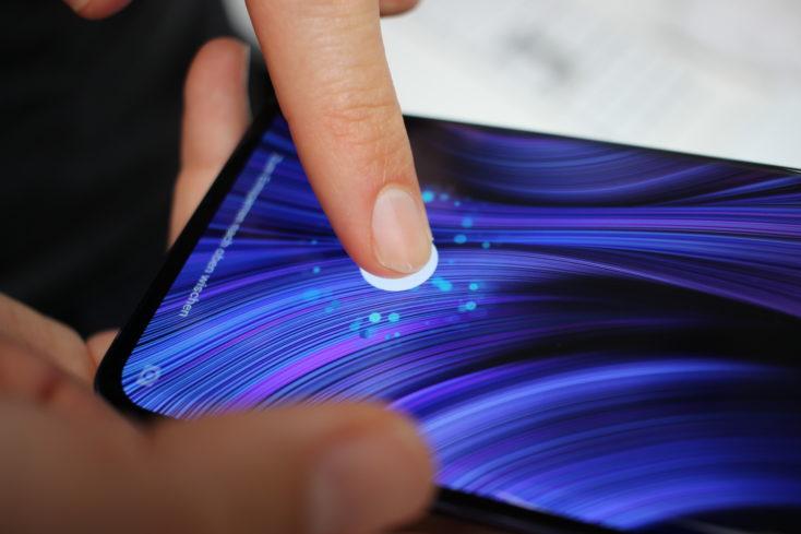 Xiaomi Mi Note 10 Lite Fingerabdrucksensor