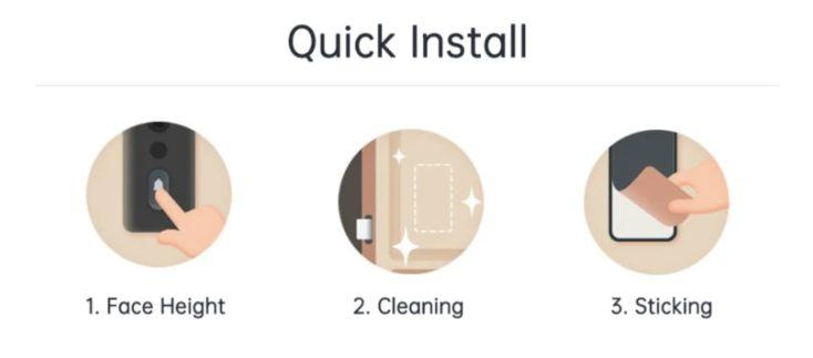 Xiaomi Mijia 2 Tuerklingel Montage