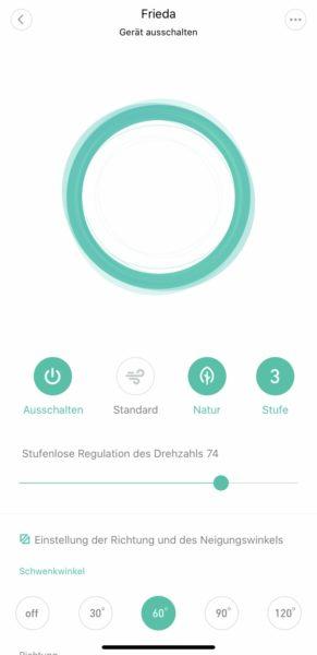 Xiaomi Smartmi Standing Fan 2 Mi Home App Natur