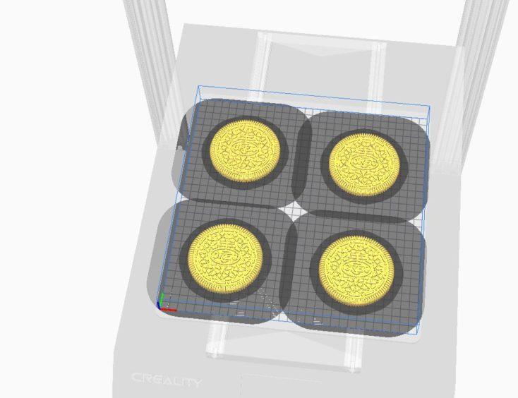 Creality3D CR-10S Pro V2 Oreo-Kekse im Druck