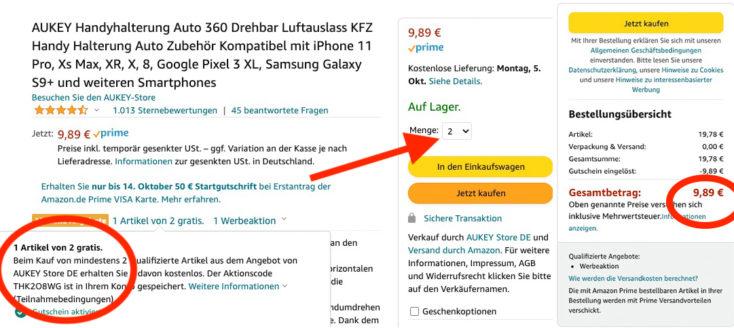 AUKEY KFZ Handyhalterung Gutschein Amazon