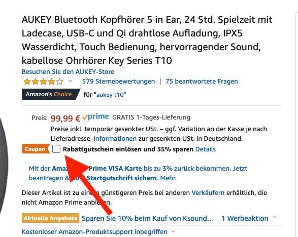 Aukey Key Series Rabattgutschein Amazon