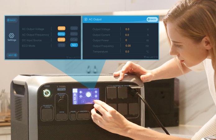 Bluetti AC200 Power Station Touchscreen