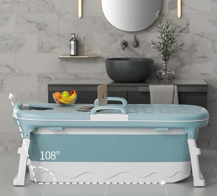 Faltbare Badewanne im Bad