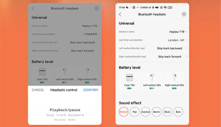 Haylou T19 Kopfhoerer App