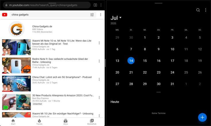Huawei Matepad Multitasking zwei Fenster
