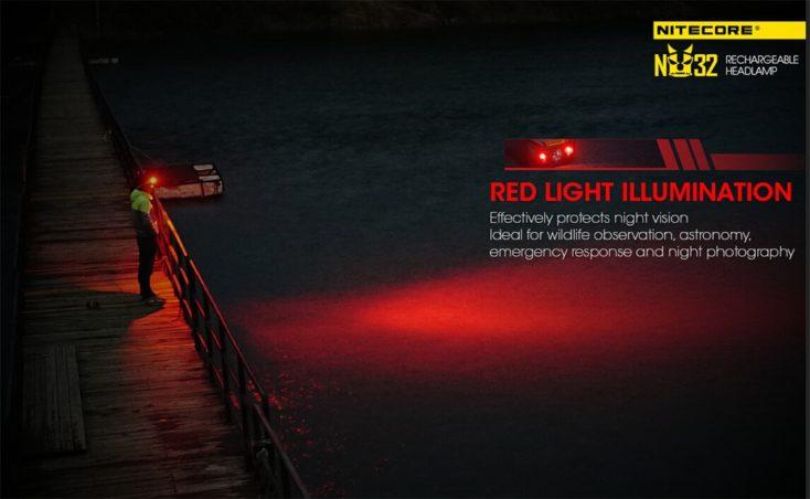 Nitecore NU32 Rotlicht