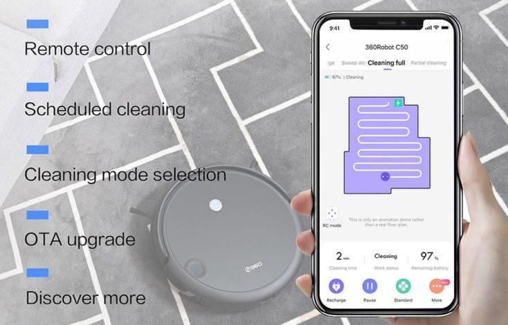 Qihoo 360 C50 Saugroboter App-Steuerung