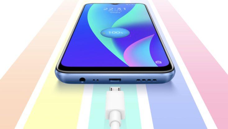 Realme C15 Smartphone 18 Watt Laden