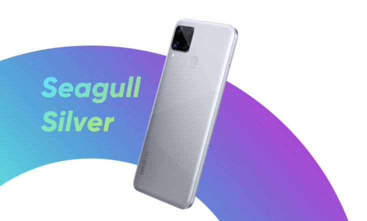 Realme C15 Smartphone Farbe grau
