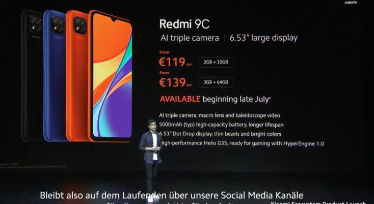 Redmi 9C Praesentation