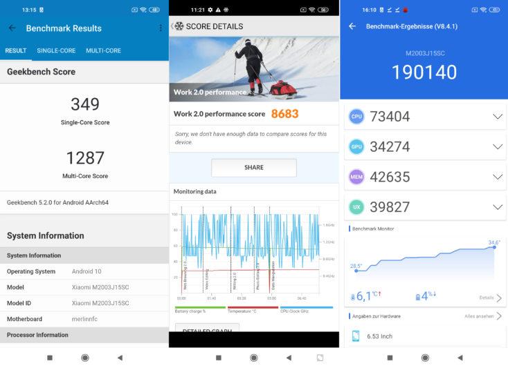 Redmi Note 9 Benchmarks