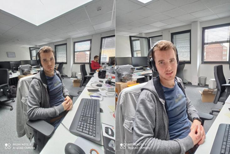 Redmi Note 9 Ultraweitwinkelkamera Vergleich