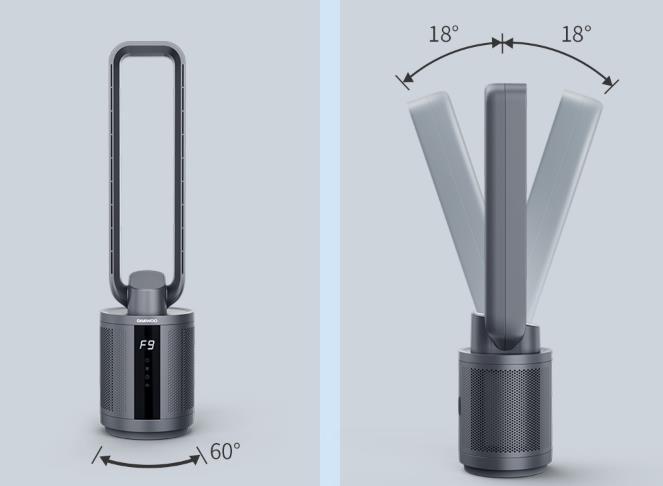 Xiaomi Daewoo F9 Ventilator Luftreiniger Beweglichkeit