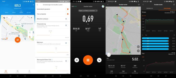 Xiaomi Mi Band 5 Laufen mit GPS Mi Fit App