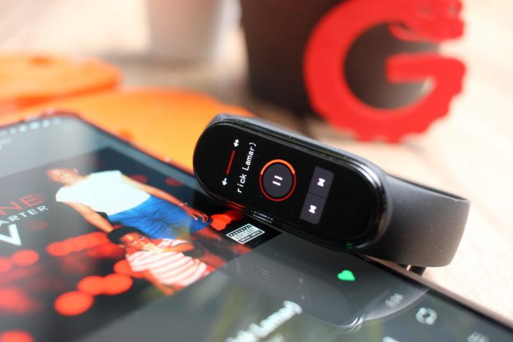Xiaomi Mi Band 5 Musiksteuerung