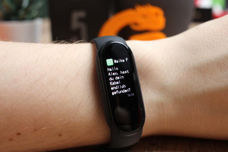 Xiaomi Mi Band 5 WhatsApp Benachrichtigung