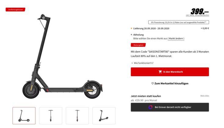 Xiaomi Mi Scooter 1S MediaMarkt