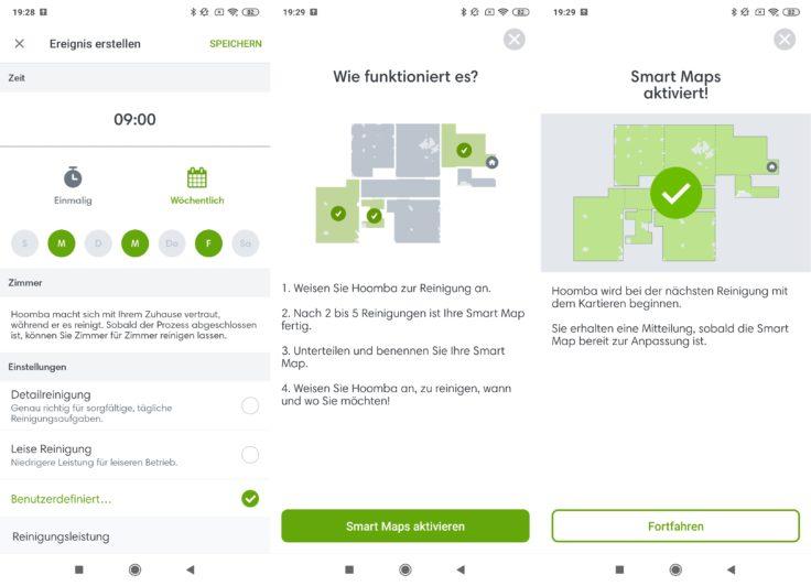 iRobot Roomba s9 Saugroboter App Home Arbeitszeiten einplanen Kartierung