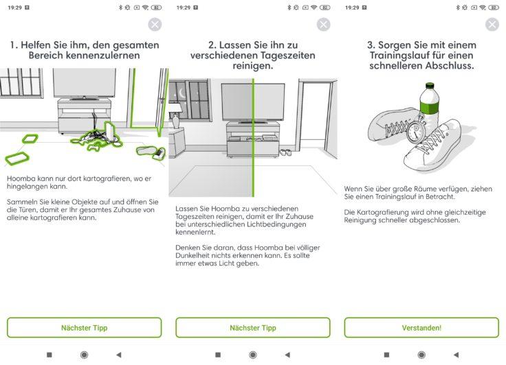 iRobot Roomba s9 Saugroboter App Home Einstellungen Vorbereitung Reinigung
