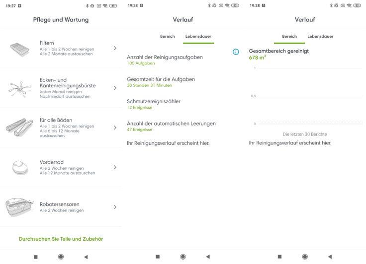 iRobot Roomba s9 Saugroboter App Home Einstellungen Zustand Einzelteile