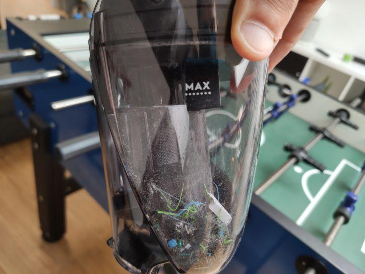 AEG QX9 Akkustaubsauger Staubkammer