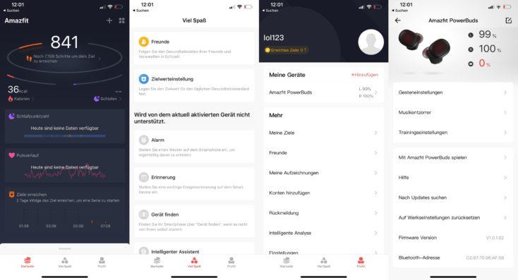 Amazfit App fuer Powerbuds App