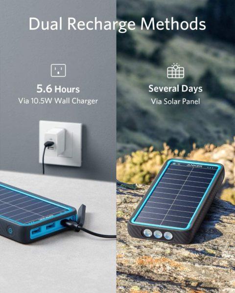 Anker PowerCore Solar 10000 aufladen