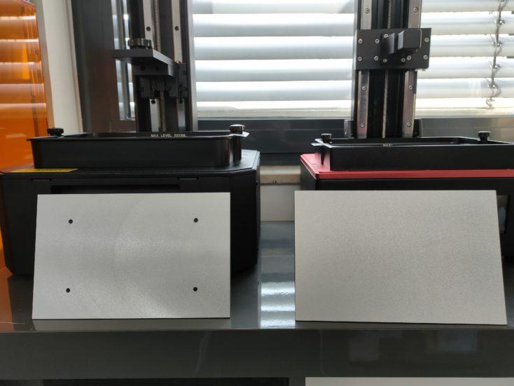 Creality3D LD 006 und Elegoo Saturn Druckplatten Vergleich