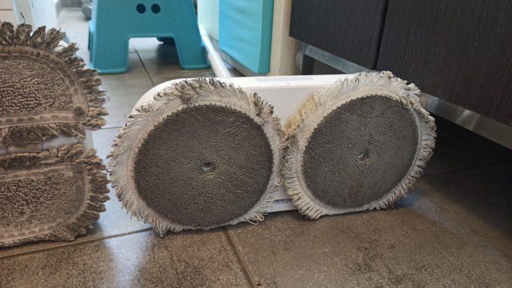 Dreame CC elektrischer Wischmopp Vergleich Mijia Mopp nach Woche Einsatz