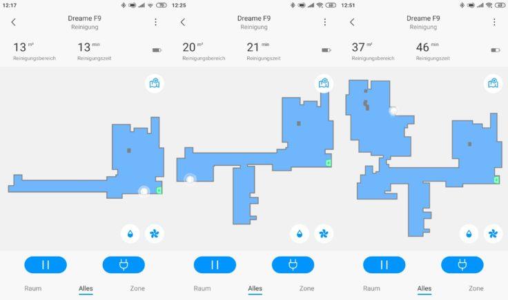 Dreame F9 Saugroboter Xiaomi Home App Mapping