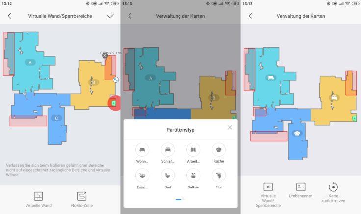 Dreame F9 Saugroboter Xiaomi Home App selektive Raumeinteilung