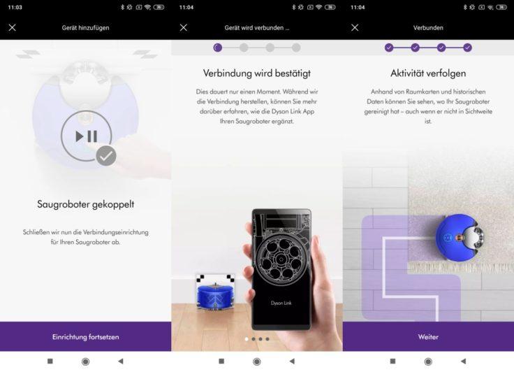 Dyson 360 Heurist Saugroboter App Einbindung WLAN Steuerung