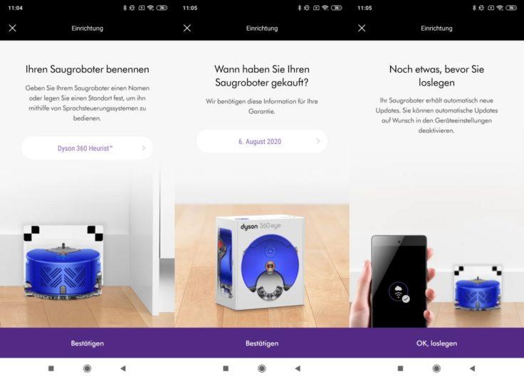 Dyson 360 Heurist Saugroboter App Einbindung WLAN Vorbereitung