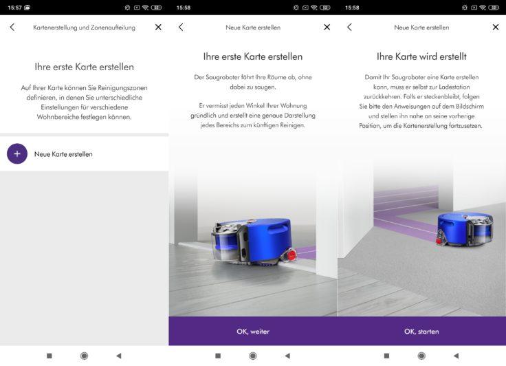 Dyson 360 Heurist Saugroboter App Kartenerstellung