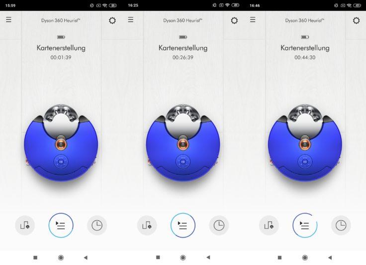 Dyson 360 Heurist Saugroboter App Mapping Kartenerstellung