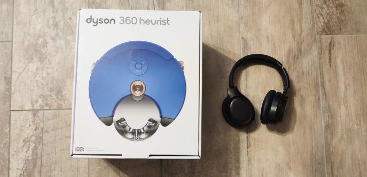 Dyson 360 Heurist Saugroboter Größe Verpackung Vergleich Kopfhörer